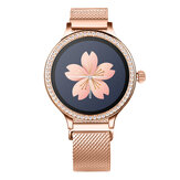 Bakeey M8 Elegantes Kristallzifferblatt Menstruationsperiode Blutdruck Mode Smart Watch IP68 Sportmodus Mehrsprachig