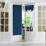 66x173cm French Door Window Curtain Shading Curtain Folding Pure Color Curtain for Home Window Decoration