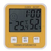 DC107 Large Digital LCD Indoor Temperature Humidity Meter Thermometer Hygrometer Clock Time