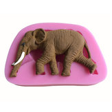3D Elephant Shape Silicone Cake Fondant Mould Soap Mold Creative Animal Shape Bakken Tools