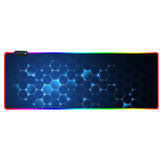 RGB Mouse Pad Soft Rubber Anti-slip USB LED Glowing Gaming Keyboard Mouse Pad Desktop Protective Mat for Home Office
