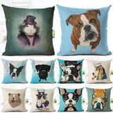 Honana45x45cmdecoracióndelhogarde dibujos animados Gato Perro animales Diseño 10 patrones opcionales fundas de sábanas de algodón funda de cojín del sofá