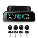 Car TPMS Tyre Pressure Monitor System Solar Power LCD Display Clock Time Display