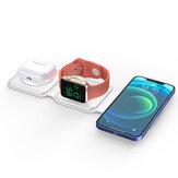 Carregador magnético sem fio Bakeey 3 em 1 Estação de carregamento rápido para iPhone 12 Pro Suporte de dock máximo para Apple Watch para Airpods pro