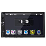 Tela de toque de 7 polegadas Bluetooth Dual eixo carro MP5 Player Universal com ou sem GPS