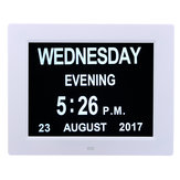 7 Inch LED Digital Calendar Day Clock Extra Large Time Day Week Month Year