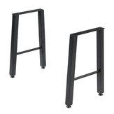 2xアイアンクラフトステンレス鋼脚産業テーブル脚22インチコーヒーデスクチェア脚金属DIY家具用ホームオフィス