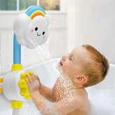 Baby Bath Shower Toy Spray Cloud Rainbow Water Squirt Faucet Kids Bathing Play
