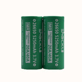 2PCS Shockli IMR 26650 3.7V 5250mah 20A Discharge Rechargeable Li-ion Battery-Flat top
