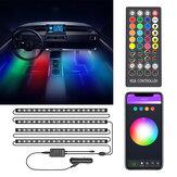 BlitzWolf® BW-LT35 Bluetooth RGBIC Auto-interieurstripverlichting met 3 eenvoudige bedieningsmethoden Levendige RGBIC-verlichtingseffect Synchronisatie met muziek Muziekmodus en scène activeren