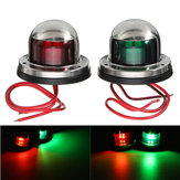 Yacht Light 12V Stainless Steel LED Bow Red Green Navigation Lights Marine Boat