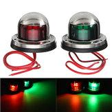 يخت ضوء 12V صلب الذى لا يصدأ ليد القوس أحمر أخضر ملاحة ضوء قارب بحري