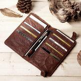 E Ekphero Men Card Holder Long Wallet Phone Bag Vintage Purse Clutches Bag
