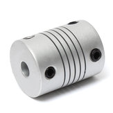 10pcs 5mm x 8mm Acople de Eje Flexible de Aluminio OD19mm x L25mm CNC Stepper motor Acoplador Conector