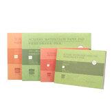16K / 32K 20 folhas Papéis para aquarela Profissional de grãos finos de grãos médios Bloco de papel para aquarela pintado à mão Livro solúvel em água