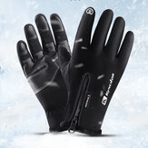 Unisex Fleece Screen Touchable Winter Outdoor Keep Warm Waterproof Cycling Riding Full-finger Gloves
