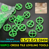 100Pcs Cross Tile Leveling System Base Spacer Recyclable Plastic Tools