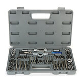 40Pcs M3-M12 Screw Nut Tap Die Set with Wrenches Thread Gauge Hand Tools