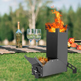 GL Black Titanium Rocket Portable Stainless Steel Folding Stove Hiking Outdoor Camping Barbecue Picnic Wood Stove
