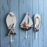 Estilo mediterrâneo cabides pothook home da parede chapéu roupas náuticas ganchos pendurados decoração