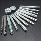 14pcs liga botão de pressão soco rebite doca setter kit ferramenta de artesanato de couro