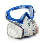 Silicone Full Face Respirator Gas Mask & Goggles Comprehensive Cover Paint Chemical Pesticide Dustproof Mask