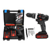 100-240V Cordless drill Double Speed Adjustment LED lighting Large Capacity Battery 50Nm 25+3 Torque Adjustment
