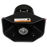 12V 400W alarme de alarme de carro alto policial sirene chifre PA sistema de microfone de alto-falante