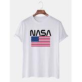 Mens Casual NASA Pattern Short Sleeve T-Shirts