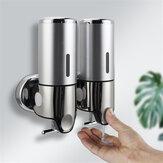 Bakeey 500ml / 1000ml液体石鹸ディスペンサー壁掛けダブルハンドバスルームソープボトルツール用ホームキッチン