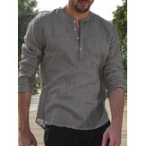 Mannen casual lange mouw button down retro top shirts