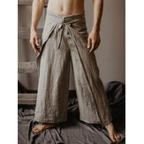 Herren Casual Loose Multifunktionale Fisherman Pants Strap Hose