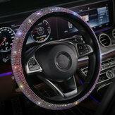 Универсальный чехол на руль роскошный Bling Bling горный хрусталь алмаз Авто аксессуары декор