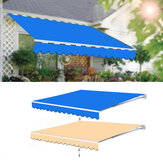 Multi-Size Garden Patio Awning Canopy Sun Shade Shelter Replacement Fabric Top Cover With Frill