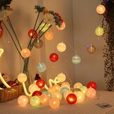 20 Cotton Ball String Fairy Night Lights USB LED Bulb Room Party Decoration Xmas