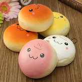 10CM Cute Smiling Expression Kawaii Squishy Bread Brelok Bag Phone Charm Strap