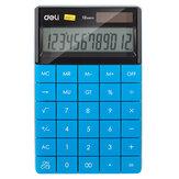 Deli E1589 Calculadora de escritorio de 12 dígitos Programador universal Energía dual Solar Energía Batería Calculadoras de oficina de negocios de estilo moderno Escuela Suministros