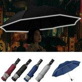 105 см складной ветрозащитный автоматический зонт с отражающей полосой Авто бизнес складной зонт для мужчин Женское