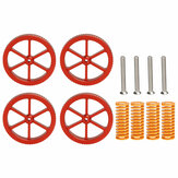 SIMAX3D® 4Pcs Upgraded Metal Red Hand Screwed Leveling Nut + 4pcs Spring&Screws for Creality 3D Ender-3 Series 3D Printer