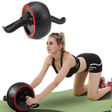 Home Gym TPR Abdominal Wheel Roller With Knee Pad Body Shape Slimming Indoor Fitness Exercise Tools