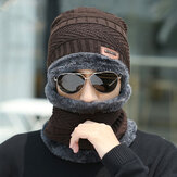 Men Wool Plus Velvet Thick Winter Keep Warm Neck Protection Windproof Knitted Hat