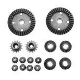 TPOWER 16PCS Upgrade Parts Metal Differential Gear for Wltoys 1/18 A949 A959 RC Car Vehicles Models