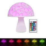 20 cm 3D Mantar Gece Lambası Uzakdan Kumanda Dokunmatik Kontrol için 16 Renkler USB Şarj Edilebilir Masa Lamba Ev Dekorasyon