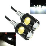 Pair 3W 6000K 12V LED Motorcycle Car Eagle Eye License Light Plate Screw Bolt Lamp