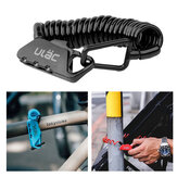 ULAC K2S Bicycle Combo Lock 1.2M Extended Spiral Cable 3 Digits Combination Resettable Light Weight Compact Portable Lock