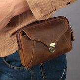 Erkekler Hakiki Deri Business Retro 6.3 İnç Telefon Çanta Bel Çanta Kemer Döngülü Cüzdan