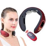4 modos, 15 niveles, Control remoto, impulso de espalda eléctrico y masajeador Cuello, alivio del dolor de calefacción, masajeador cervical inteligente