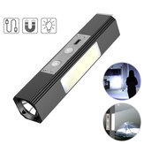 XANES® T6 800LM LED+350LM COB Side Lamp+365nm UV Light Powerful Flashlight USB Rechargeable Magnetic Working Lamp