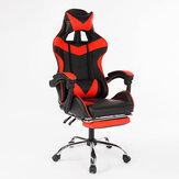 Эргономичный спортивный стиль с высокой спинкой и откидной спинкой Офисный стул Регулируемый вращающийся подъемник PU Кожаный игровой сту