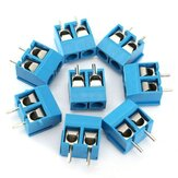 20pcs 2 Pin Plug-in Tornillo Conector del Bloque del Terminal 5.08mm Pitch
